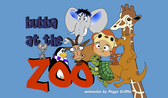 Adobe Flash animation of a little boy's adventures visiting a zoo, interacting with the animals while wearing a monkey suit